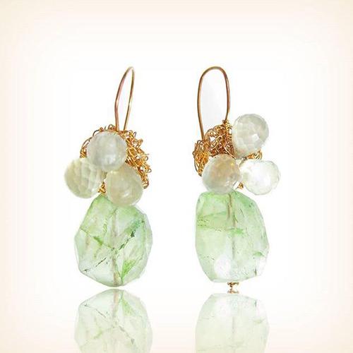 Storytelling Design | Wilhelmina Art Jewelry | Gehaakt | Groen